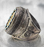 Turkish tribal ring Royalty Free Stock Image