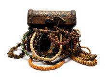 Turkish Trinket Box with Jewelery Royalty Free Stock Image