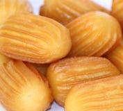 Turkish tulumba sweet or Turkish dougnhuts, macro shot Stock Photography