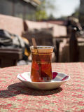 Turkish typical glass for the tea. Istanbul - Turkey Stock Photography