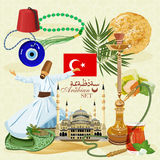 Turkish vector set. Stock Photo