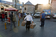 Turkish vendor salesman Royalty Free Stock Photo