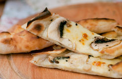 Turkish version of pizza with mushrooms and cheese Royalty Free Stock Image