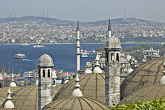 Turkish view on Bosporus. Stock Photo