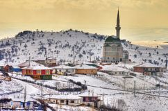 Turkish village. Near Ankara at winter time Stock Images