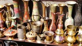 Turkish vintage antique iron tableware. Hd stock footage