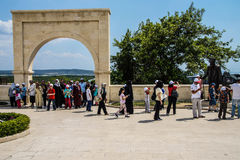 Turkish visitors stop at the memorial Stock Photos