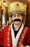 Turkish waiter dressed fancy dress Sultan Stock Images