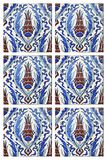 Turkish Wall Tile,Tulips. Turkish Wall Tile,Tulip Figures stock photo
