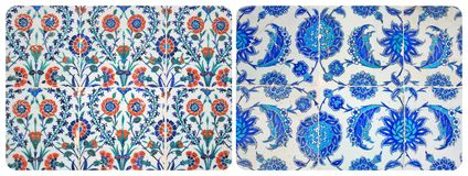 Turkish Wall Tiles Couple Stock Photo