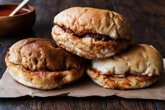 Turkish Wet Burger with sauce / islak hamburger Stock Photo