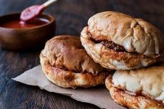 Turkish Wet Burger with sauce / islak hamburger Stock Image