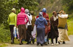Turkish women. Groupe of Turkish women in north east Turkey Royalty Free Stock Images