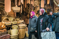 Turkish women are shopping in the market of Istanbul, Turkey Stock Photography