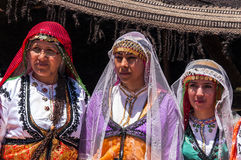 Turkish women in traditional dress Royalty Free Stock Photo