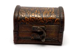Turkish Wooden Trinket Box Stock Photo