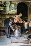 Turkish working men in Istanbul, Turkey Royalty Free Stock Photo