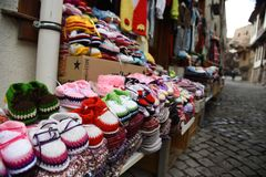 Turkish Woven locally made handicrafts stock images