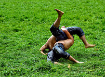 Turkish wrestling Royalty Free Stock Image
