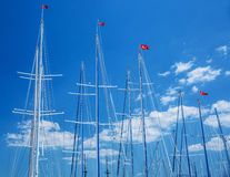 Turkish yacht harbor Stock Images