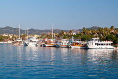 Turkish yachts in bay Stock Image