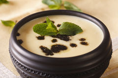 Turkish Yayla soup with rice, mint and yoghurt in a bowl close-u Royalty Free Stock Image