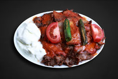 Turkish yogurt kebap Royalty Free Stock Photo