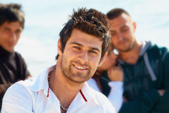 Turkish young man with friends. Stock Images