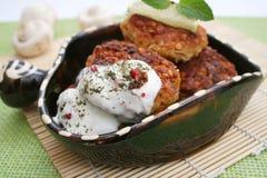 Turkishly Köfte. A meal of Turkishly Köfte with yogurt Stock Image