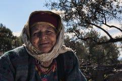 Turkisk äldre kvinna Arkivfoton