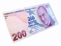 Turkisk banknot Arkivfoto