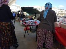 Turkisk basarfiskställning arkivbilder