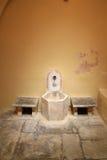 Turkisk Bathhouseinre för ottoman på ön av Kos i Grekland Arkivbilder
