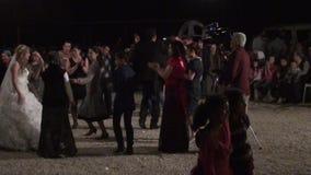 Turkisk dans för bröllopparti arkivfilmer