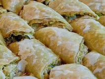 Turkisk efterrätt & x28; orientalisk sweets& x29; Arkivfoto