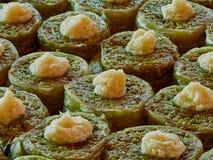 Turkisk efterrätt & x28; orientalisk sweets& x29; Fotografering för Bildbyråer