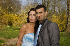 Turkisk ethnic engagement wedding couple Stock Photos