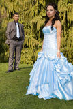 Turkisk ethnische Verpflichtungs-Hochzeitspaare lizenzfreie stockfotos