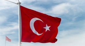 Turkisk flagga Royaltyfria Bilder