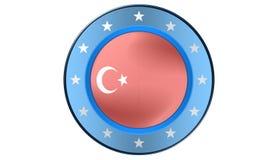 Turkisk flagga, illustration Royaltyfria Bilder
