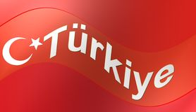 Turkisk flagga, illustration Arkivbild