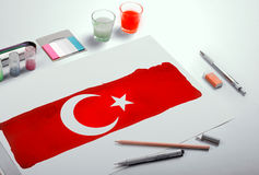Turkisk flagga, Turkiet, flaggadesign Royaltyfri Foto