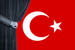 Turkisk flagga, Turkiet, flaggadesign Royaltyfri Bild