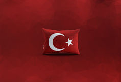 Turkisk flagga, Turkiet, flaggadesign Royaltyfria Bilder