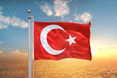 Turkisk flagga, Turkiet, flaggadesign Arkivbild