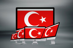 Turkisk flagga, Turkiet, flaggadesign Royaltyfri Fotografi