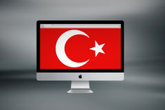 Turkisk flagga, Turkiet, flaggadesign Arkivbilder
