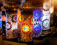 Turkisk färgrik lampa Royaltyfri Bild