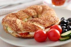 Turkisk frukost Arkivfoto