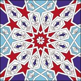 Turkisk islamisk tegelplattakonst, Anatolian modell för ottomanstil Royaltyfria Bilder